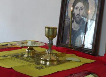 В  колонии, где нет храма, совершена первая литургия